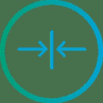 arrow merge icon