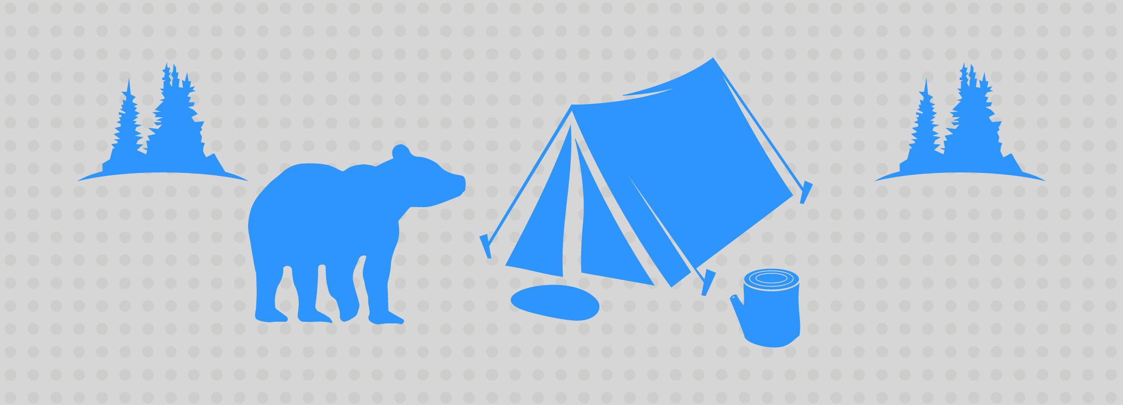 Image:  Bear and tent - survival in the SAP CR&B wilderness
