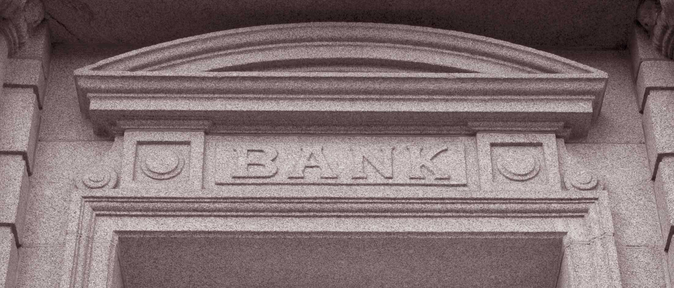 Bank sign image