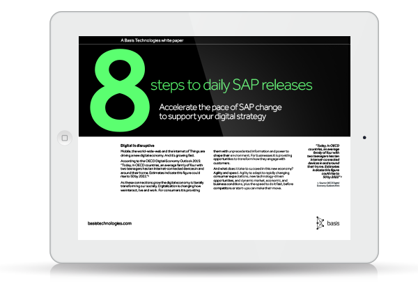 Resource Icon: 8 steps to daily SAP releases - DevOps for SAP