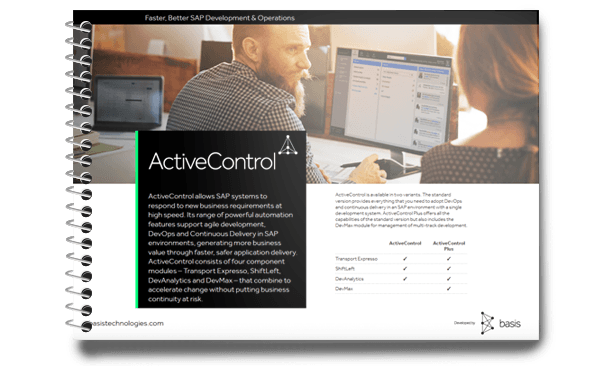 ActiveControl Feature Sheet - DevAnalytics