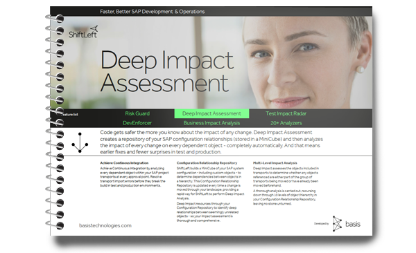 SAP Impact Assessment
