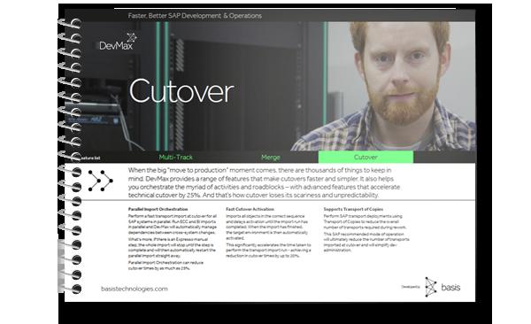 SAP Cutover Planning
