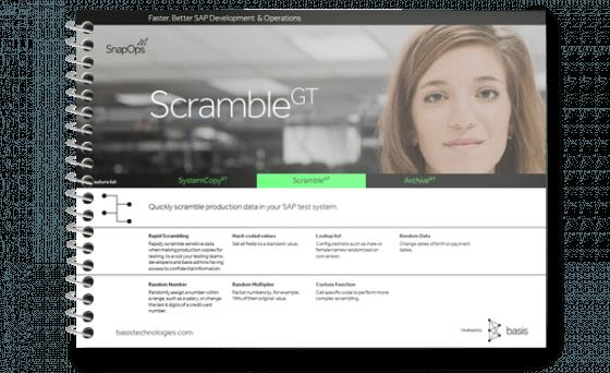 SAP Data Scrambling Sensitive Data