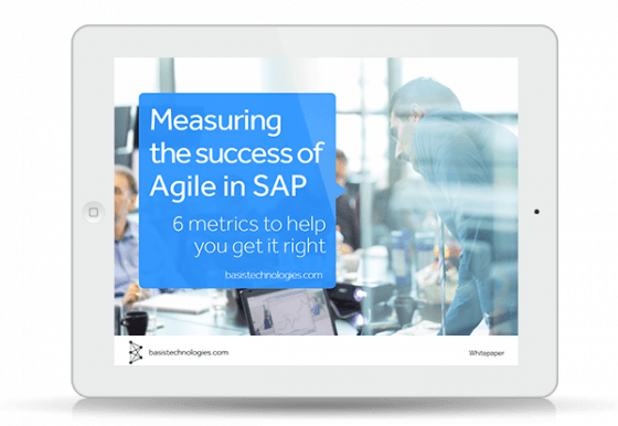 6 metrics and success factors: Agile for SAP